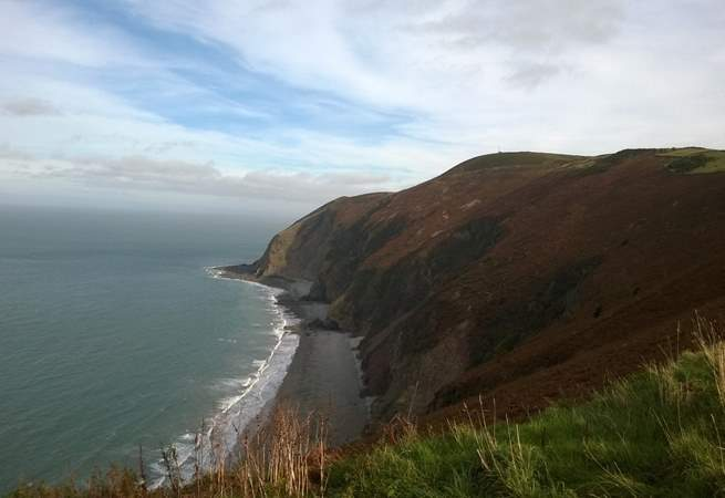 This is where Exmoor National Park meets the sea - the scenery is breathtaking.
