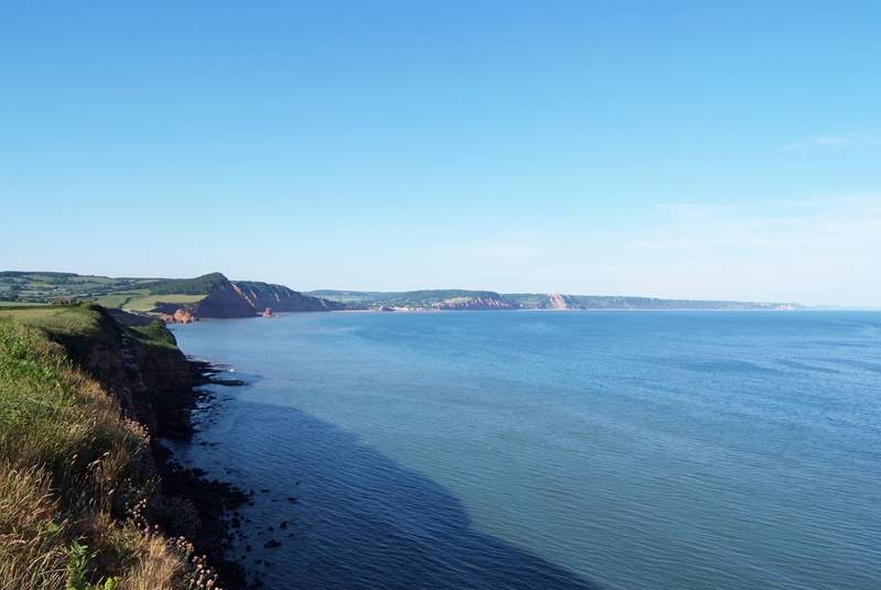 This is the view along the Jurassic Coast from Budleigh Salterton - a lovely place for a day out.