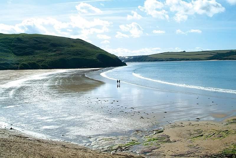 Daymer Bay beach.