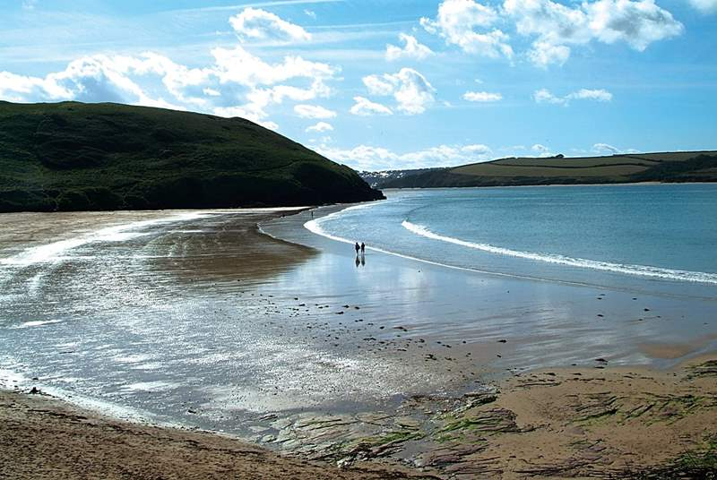 The family favourite beach at Daymer Bay.