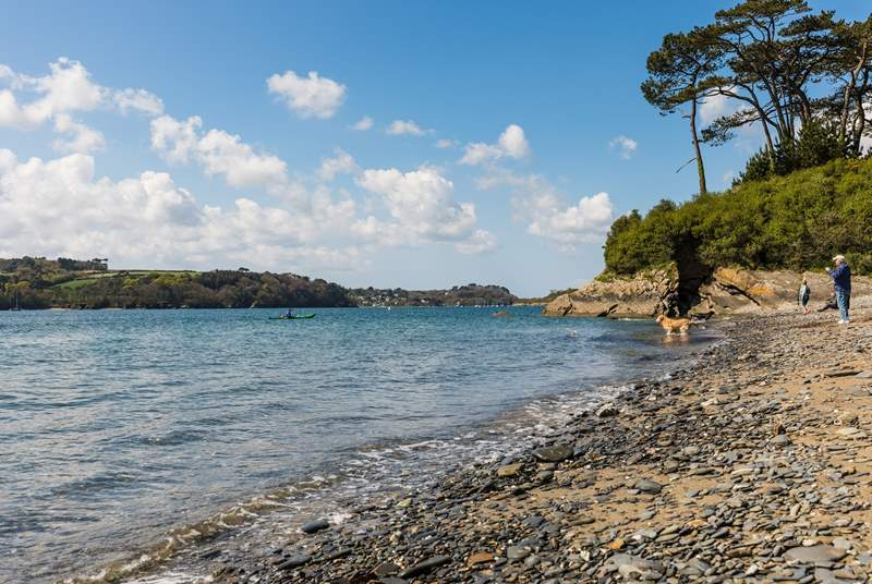 Hidden coves along The Helford.