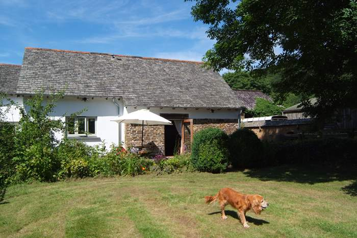 Cottages near Knightshayes Court