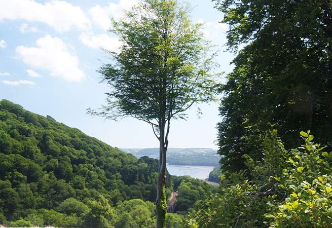 The view towards Dartmouth from the end terrace.