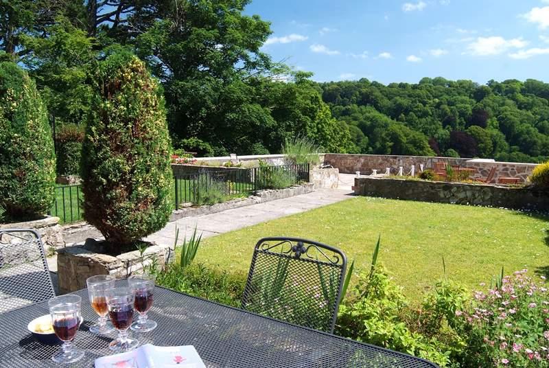 The sunny garden.