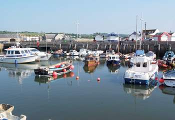 West Bay has the nearest beach to Barbridge Cottage - this is the pretty harbour there.