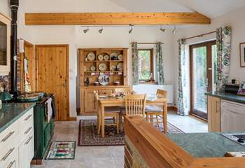 Barbridge Cottage is so spacious and well-equipped.