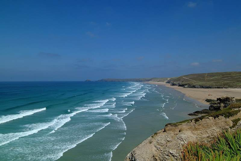 Perranporth is just a few miles further up the coast from Porthtowan.