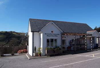 Berrynarbor has a lovely community-run village shop and stores - a stone's throw from the cottage.