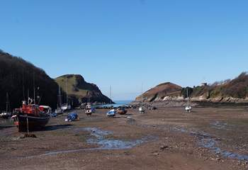 Pretty Watermouth Harbour is just a half mile walk - uphill on the way back!
