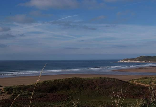 Woolacombe is the nearest sandy beach - miles and miles of it!