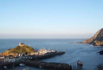 The harbour at Ilfracombe - catch a ferry over to Lundy Island for a wonderful day out.
