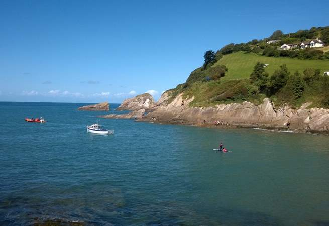 This is the bay at Combe Martin just along the coast from Berrynarbour - a five minute drive.