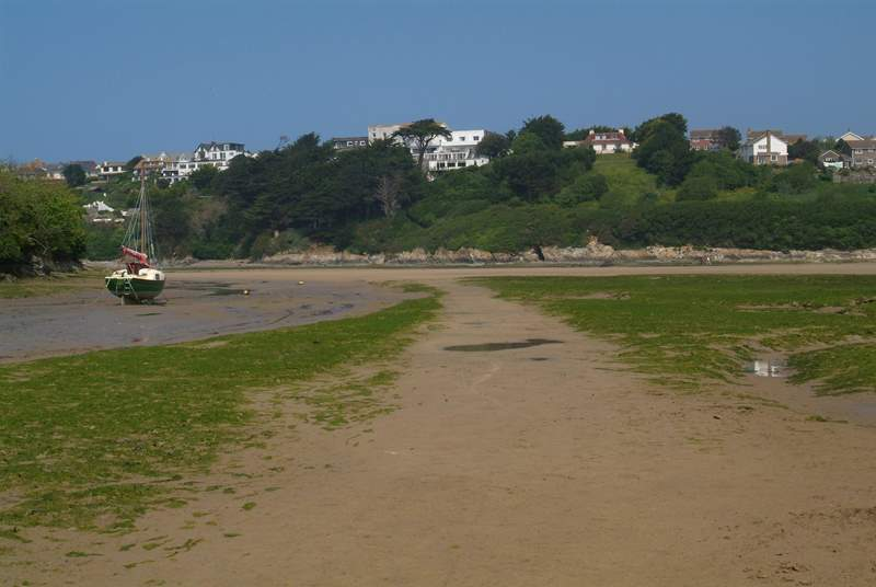 The Gannel Estuary at low tide.