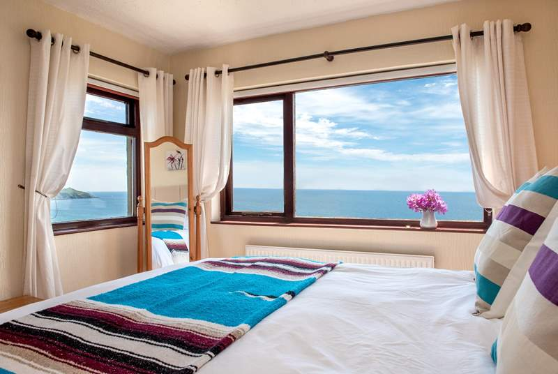 It will be difficult getting out of a bed with a view like this, but you are on holiday - so there's no rush!