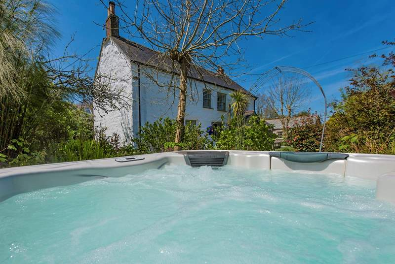 Your own hot tub to enjoy in your private garden.