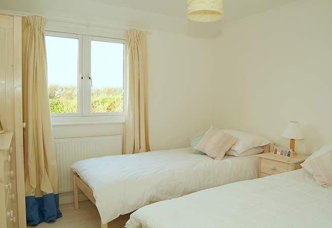 The twin bedroom (Bedroom 3) is ideal for children.