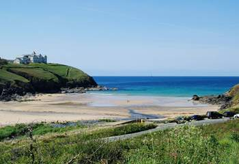 Poldhu Cove, a ten minute walk or a couple of minutes' drive away.