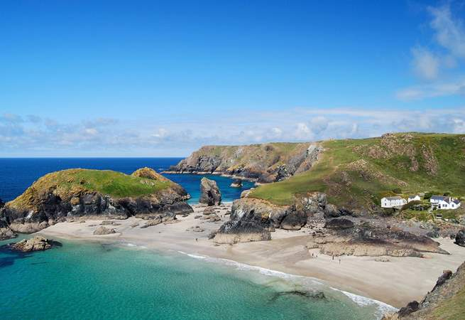 Spectacular Kynance Cove is a short car journey away - or an exhilarating walk along the coastal footpath.