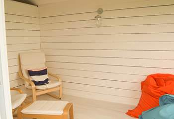 With comfortable seats, light and electricity, you might just want to stay in here!