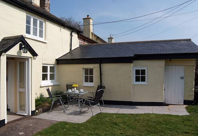 There is a completely private and sheltered patio and as the cottage is set above the village there are lovely views.