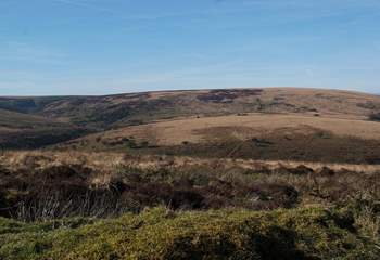 The Exmoor National Park has miles of open moorland to explore.