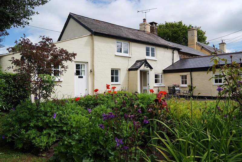 Lovely Cleveland Cottage has a very sheltered patio and a beautiful cottage garden.