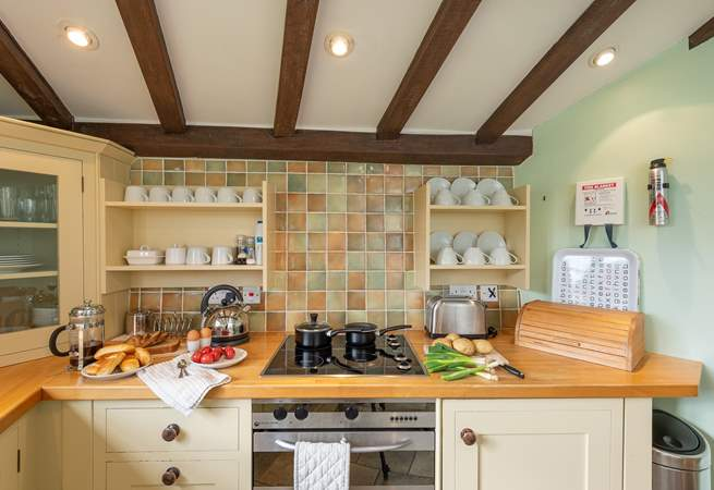 The kitchen is equipped as a real home-from-home