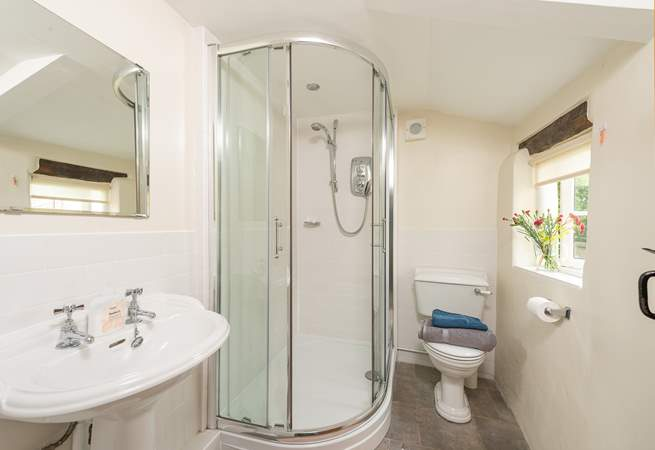 For guests who prefer a shower, this separate ground floor shower-room is a bonus.