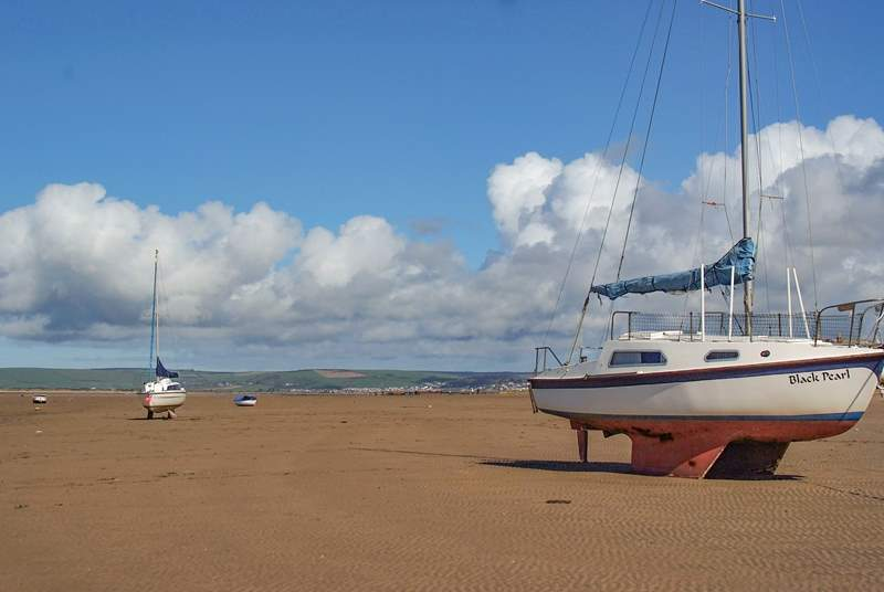 This is the beach at nearby Instow, a great place for long walks and it is dog-friendly all year round.
