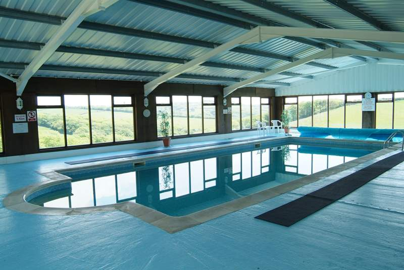 The lovely swimming pool available for guests to use.