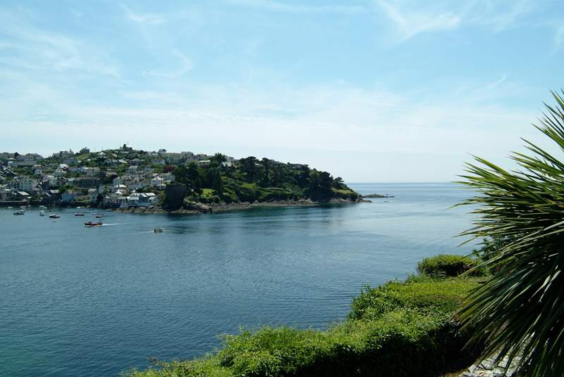 Looking towards Polruan from Fowey esplanade, less than four miles away.