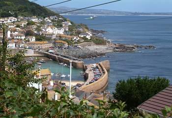 The view to Mousehole from the property.