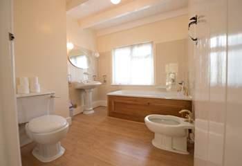 The first floor bathroom.