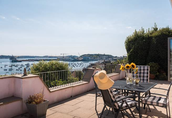 What a view from the terrace, sit back and relax.