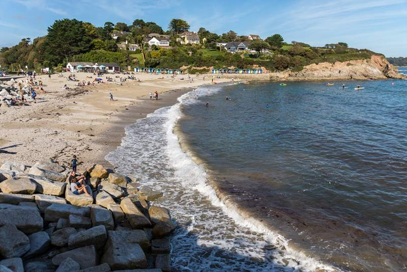 Swanpool beach in Falmouth has a great beach cafe and restaurant overlooking the bay.