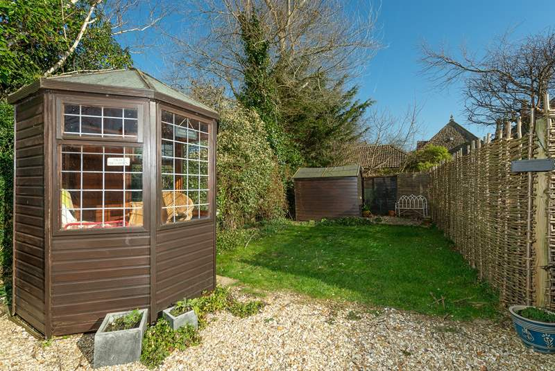 Flax Barn has a sheltered garden with a summer-house where additional garden seating is stored for you to enjoy.