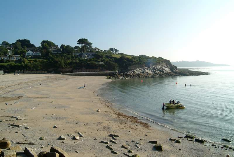 Swanpool beach is about a mile away, with a lovely little beach cafe and a popular bistro overlooking the water.