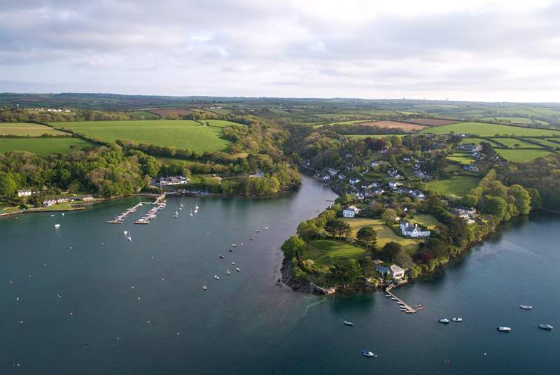 The Helford is very pretty and easy to reach from Harbour Heights (Helford village in the picture).