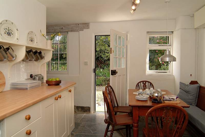 The cottage is entered from the private driveway into the kitchen/diner.
