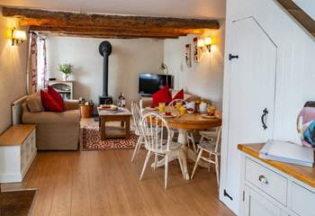 The open plan living is spacious and offers a very social ground floor to Cherryblossom.
