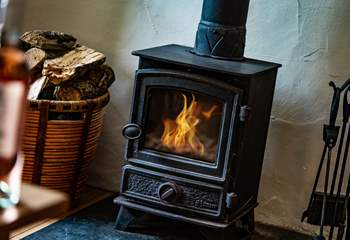 The log fire will be a welcome treat on those cold winter nights.