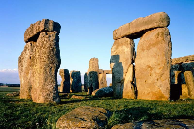 Stonehenge, a prehistoric monument and World Heritage Site, is a 40 minute drive away (photograph copyright English Heritage).