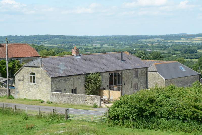 This view shows Dairyman's Cottage (2093) and Hatts Barn (2093) in their fabulous setting.