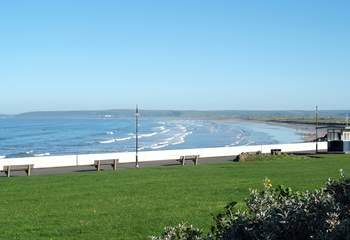 This is another view of the seafront from the centre of Westward Ho!