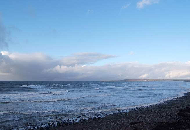The beach at Westward Ho! is a venue for surfing and kite surfing competitions.