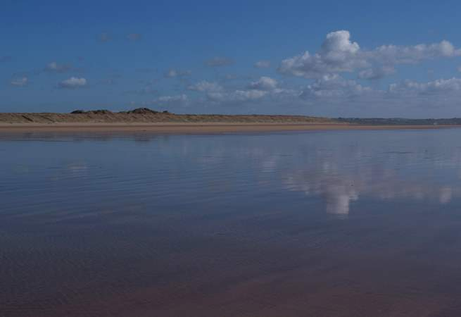 The vast sandy beach at Braunton Burrows.