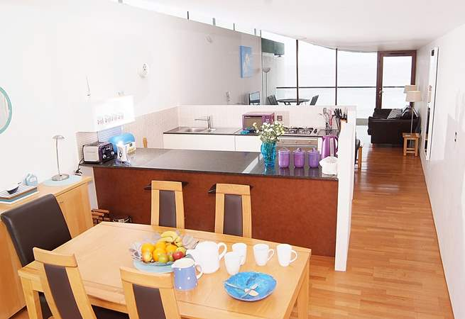 This is the contemporary interior of this lovely apartment.