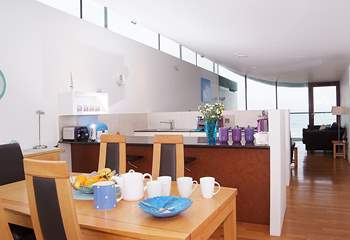 This is the dining-area at one end of the open plan living-room.