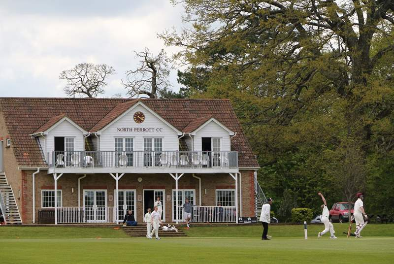 Stroll up the lane to watch a cricket match. A glorious way to spend a lazy afteroon.