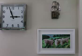 Artwork from local artists adorns the walls throughout The Pump House.